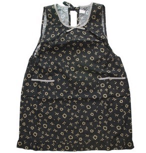 Black Fashion Cotton Cooking  Apron