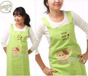 Green cotton Cooking  Apron