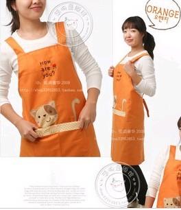 Orange Fashion cotton Cooking  Apron