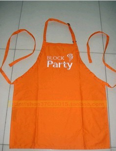 Orange Polyster Cooking  Apron