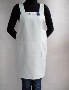 White Fashion Cotton Cooking  Apron