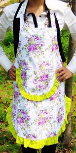 White cotton Cooking  Apron