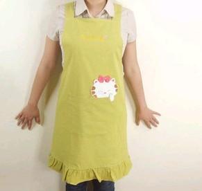 Yellow  Fashion cotton Cooking  Apron