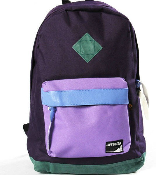 420D Polyster New desig Purple  backpack