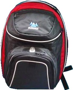 Black Quality polyster backpack