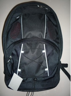 Black flashlight Material Sports  backpack