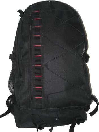 Black polyester outdoor backpack
