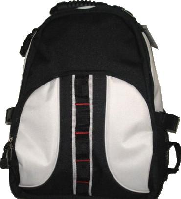 Black polyester outdoor sport backpack
