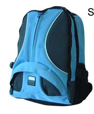 Blue Simple 420D polyster backpack