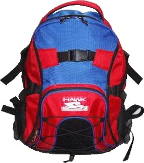 Blue and Red Quality polyster backpack