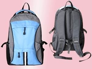 Blue polyester outdoor sport backpack