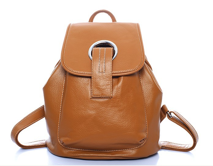 Cow Leather New desig Brown backpack