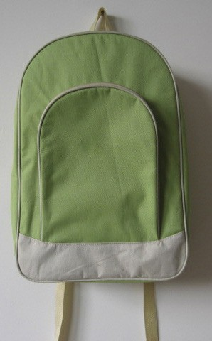 Green polyester outdoor sport backpack