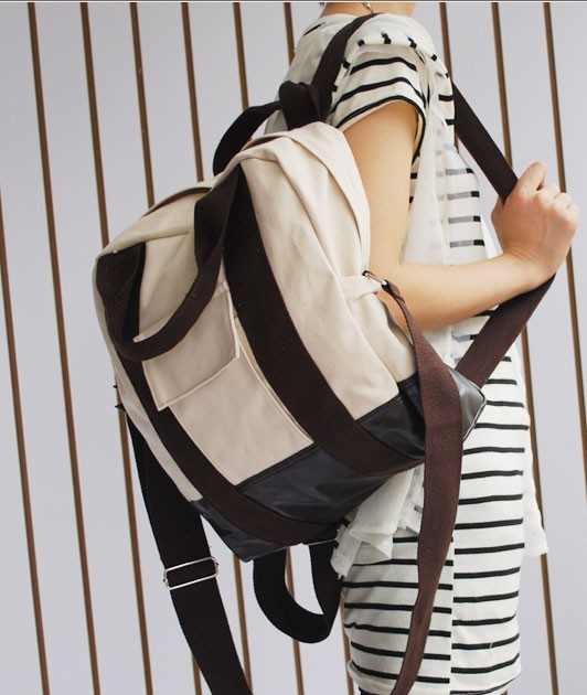 Leather New design White backpack