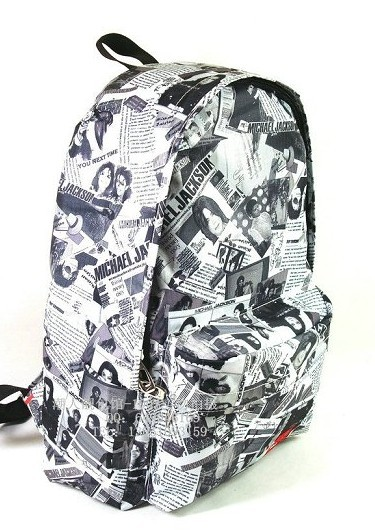 News paper Printing backpack