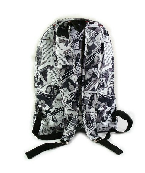 News paper Printing backpack Back
