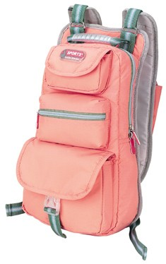 Pink outdoor mountain pack