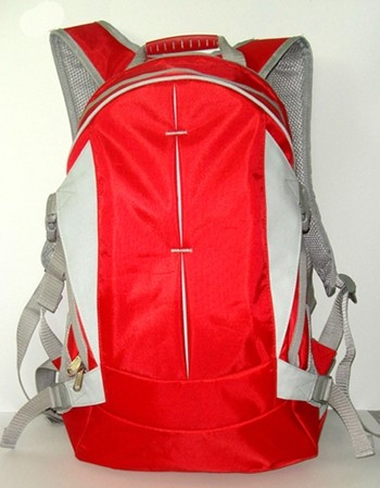 Red Quality polyster backpack