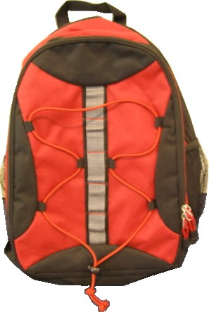 Red Simple 420D polyster backpack