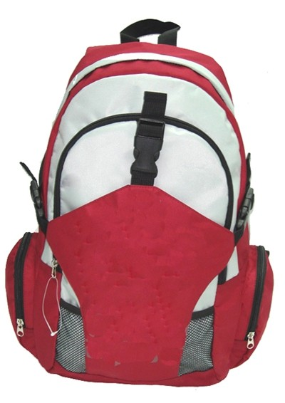 Red and White How sale 420D polyster backpack
