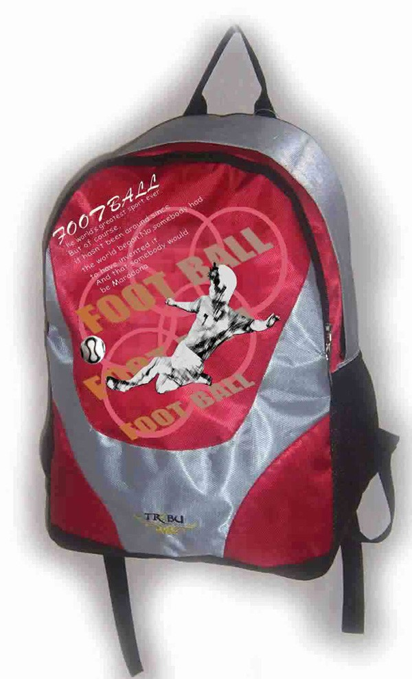 Red polyester outdoor sport backpack