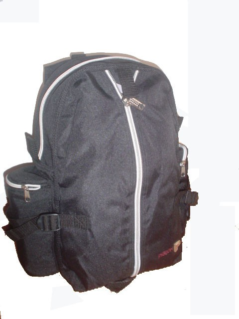 Simple 420D polyster backpack Can Put Bottle