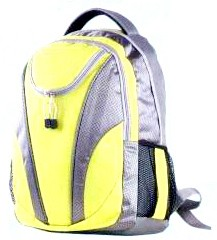 Yellow Flashlight polyester outdoor sport backpack