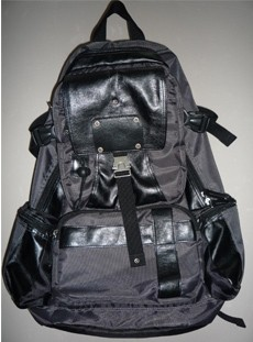 black leather Sports  backpack