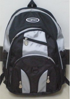 simple backpack in black and White