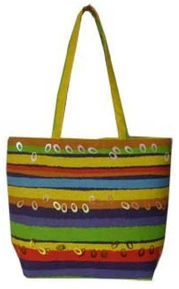 Colour Straps  lady beach bag