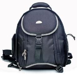 Black Polyster Camera Backpack Bag