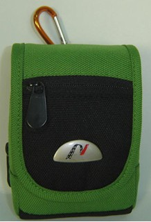 Green Polyster Camera Bag