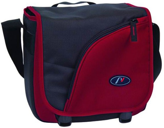 Red Polyster Camera Bag