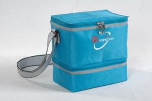 420D Polyster  blue  Material cooler bag