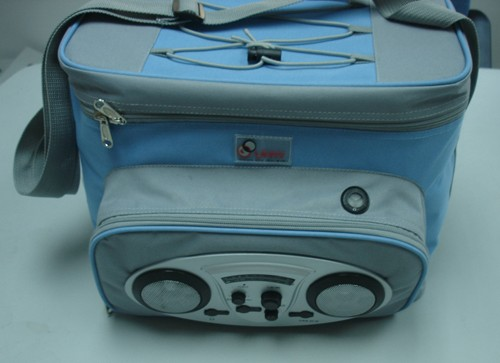 Blue Big capacity cooler bag With Radio