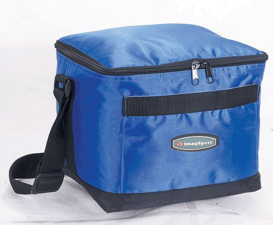 Blue Big capacity cooler bag With Two Strap