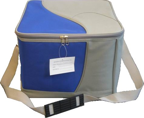 Fashion Blue Travel cooler bag With Long Strap