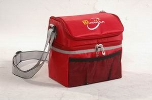 Red Big capacity cooler bag With Radio