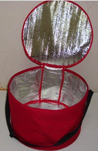 Red Round cooler bag For cans