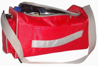 Red Travel cooler bag  With long Strap