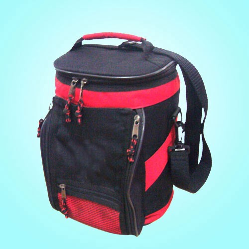 Red capacityTravel cooler bag With Trolly