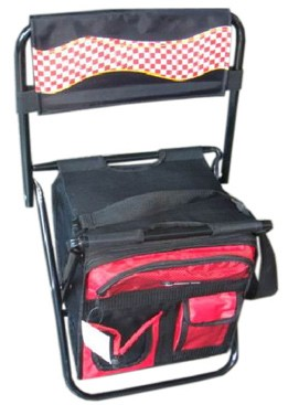 Red cooler bag With Long Strap and Holder