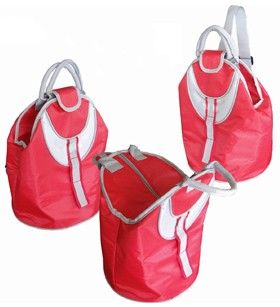 Simple Red cooler bag  With long Strap