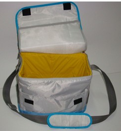 White cooler bag With Long Strap