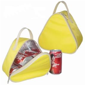 Yellow triangular shape cooler bag