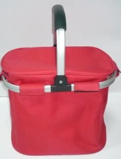 basket shape cooler bag with long strap