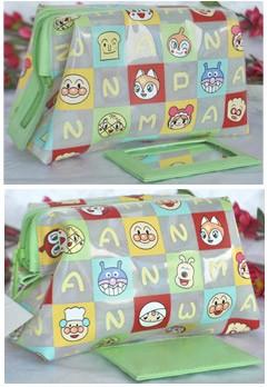 420D Material Animal Printing Green Cosmetic bag