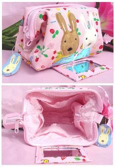 420D Material Animal Shape  Pink Cosmetic bag