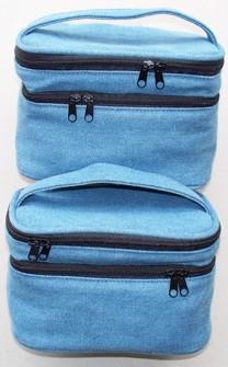 420D Material Blue Cosmetic bag