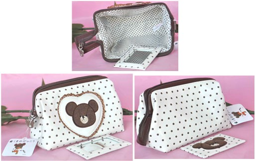 Animal Printing White Cosmetic bag